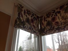 x3 Roman blinds made to measure for a square bay window. Perfect pattern matching when the blinds meet!