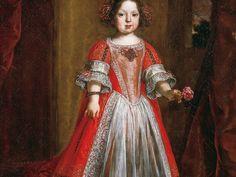 Giusto Suttermans, Ritratto di Anna Maria Luisa de' Medici bambina, 1670, olio su tela Firenze, Galleria degli Uffizi, depositi