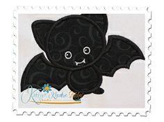 Black Bat Applique - 3 Sizes! | Halloween | Machine Embroidery Designs | SWAKembroidery.com Katelyn's Kreative Stitches