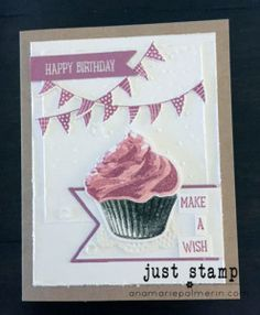 Happy Birthday with Sweet Cupcake and Cupcake Cutout Framelits | Stampin Up! | Just Stamp