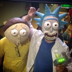 Rick and Morty Mask for Comic Con 2015 Final