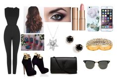 """""""Sem título #39"""" by katherine-kavanhol ❤ liked on Polyvore featuring Topshop, Charlotte Tilbury, Ted Baker, La Preciosa, Yves Saint Laurent, Kate Spade, Erica Anenberg and Ray-Ban"""