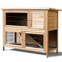 Tangkula Rabbit Hutch Outdoor Garden Backyard Wood Hen House Chicken Coop for sale online Poultry Cage, Poultry House, Rabbit Hutch Plans, Rabbit Hutches, Bunny Hutch, Indoor Rabbit, Rabbit Life, Large Rabbits, Small Animal Cage