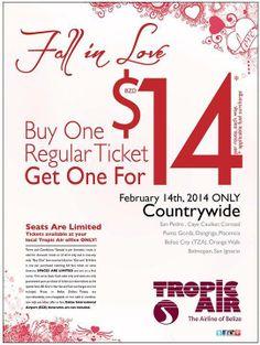 Tropic Air Celebrates Valentine's Day