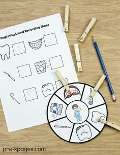 Dental Health Beginning Sounds Activity. Perfect for a dental health or community helper theme at home or in your preschool or Pre-K classroom.