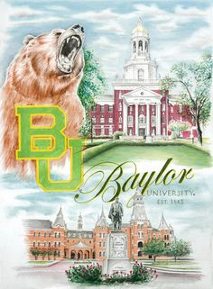 """#Baylor University """"Hallowed Ground"""" Fine Art Print - 16"""" x 20"""" by Scofield Images 