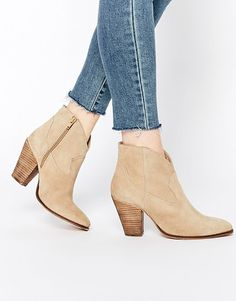 Ranch suede western boots by Asos. Boots by ASOS Collection Suede upper Zip fastening to the inner foot Western-style panelling Poin...