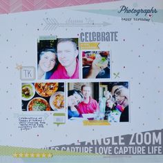 Non traditional birthday layout. #scrapbooklayout #multiphoto