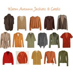 """""""Warm Autumn Jackets & Cardis"""" by jeaninebyers on Polyvore"""