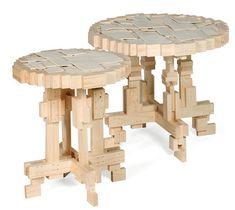 Lattice tables. Make me want some cherry pie... #Design #Furniture