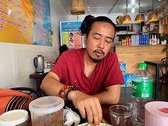 Myanmar guy eating Shan tofu and boodles Boodles, Burmese, Tofu, Long Hair Styles, Guys, Long Hairstyle, Long Haircuts, European Burmese, Long Hair Cuts
