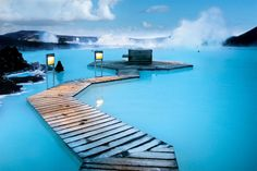 The hot springs in Iceland