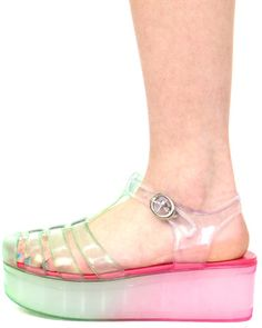 READY 4 THIS JELLY OMBRE SANDAL
