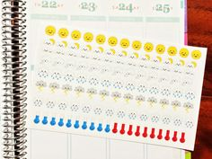 112 Weather stickers set Perfect to keep track by MareBearCrafts
