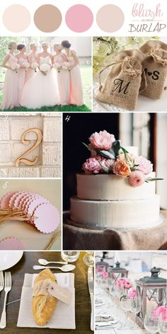 WEDDING PALLET SCHEMES   ... , burlap, and cotton – a perfect palette for a rustic wedding look