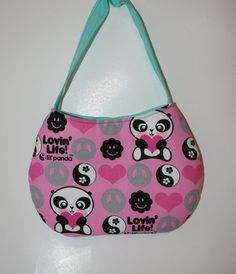 Little Girl Purse Made with Panda Print Fabric