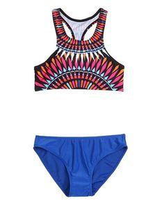 1e7a1e13eae37 Trendy design print halter tank top swimsuit for the modern fashionista -  Beautiful designed halter