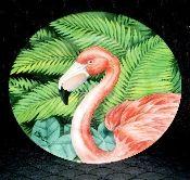 Sakura Pink Flamingo Paradise Repose Paul Brent Salad Plates