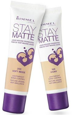 Rimmel Stay Matte Liquid Mousse Foundation  - so far, so good.