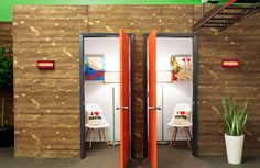 Love this idea!! A quiet space for making calls . . .A Phonebooth Is Just What Your Office Needs | Turnstone