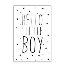 "Ansichtkaart ""Hello Little Boy"" – Dots Lifestyle"
