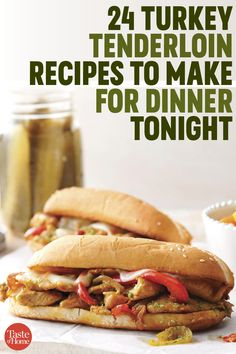 24 Turkey Tenderloin Recipes We're Making for Dinner Tonight Turkey Tenderloin Recipes, Turkey Recipes, Chicken Recipes, Chicken Meals, Easy Stuffing Recipe, Healthy Dinner Recipes, Cooking Recipes, Dinner Dishes, Main Dishes