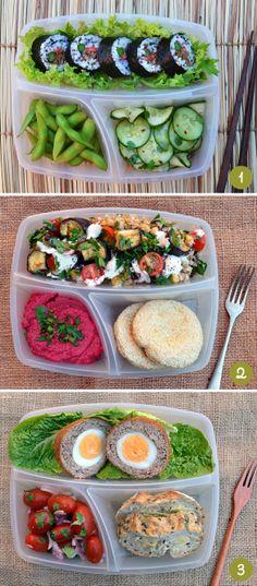 Idées pour mes lunchs du midi au travail.