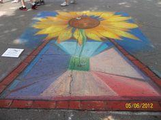 "Annual ""Chalk The Walk"" Mount Vernon Iowa 2012 – photo by Deborah Goodlove"