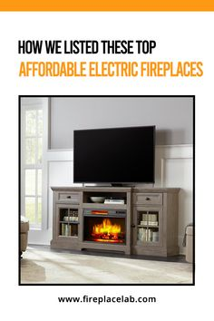 Are you looking for Electric Fireplaces For Under $250?🤔 Then, we have got you covered. 😇Read our blog where we have listed top 10 Affordable Electric Fireplaces 😮 Door Installation, Wooden Doors, Stand Design, Tv Stand And Entertainment Center, Home, Fireplace Tv Stand, White, Fireplace Tv