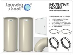 laundry room ideas Laundry shoot Laundry Chute - 1 Storey Laundry Chute Kit 1 (Inc 90 Degree Bend) H