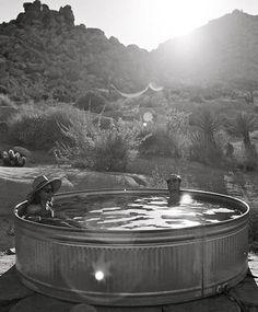 Backyard hot tub?