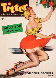 Titter 1949 10 Cover art by Peter Driben