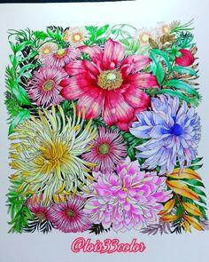 Floribunda #leiladuly #Floribunda #adultcoloringbooks #adultcoloring #coloringbookforadults #color #colors #colors #大人の塗り絵 #flower