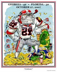 University of Georgia Bulldogs Memorabilia Georgia Bulldogs Football, Sec Football, Football Art, College Football, Bulldog Mascot, University Of Georgia, Artwork Prints, Original Artwork, House Divided