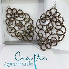 """Ohrringe """"Orphelia"""" Dionysus, Garne, Metallic, Shoulder Bag, Gold, Earrings Handmade, Silver, Patterns, In Love"""