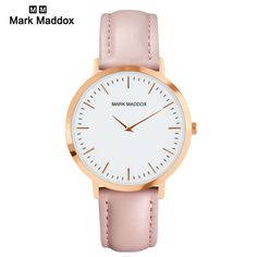 Swiss mark maddox DWTF339 Quartz Watches Women Famous Brand Gold Leather Band Wrist Watches