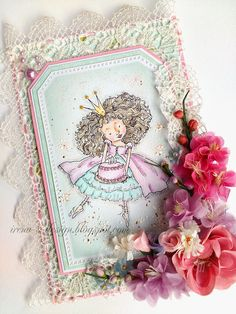 Birthday card  Cupcake princess Sienna.