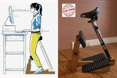 Standing Task Chair, Ergonomic Chair Design Improving your Health