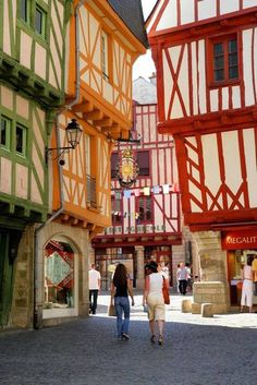 Vannes, Bretagne, France. I have a picture from this very spot, facing the other way towards the cathedral! :D