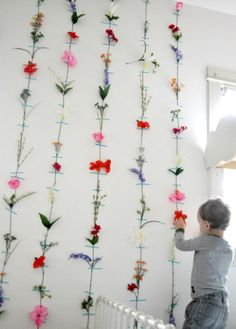 Don't like the taped-to-the-wall look, but as a garland for the nursery ...