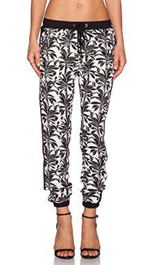 a8ac8dd85f4727 J.O.A. Palm Tree Pant in Black   White Effortless Chic