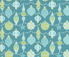 Sparkle - Per Yard - Contempo by Benartex - by Amanda Murphy - Ornaments on Aqua  #quilt #supplies #quilting #RebsFabStash #ByTheYard #Contempo #AmandaMurphy #Benartex #ChristmasYardage #CraftSuppliesTools