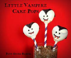 Pint Sized Baker: Little Vampire Cake Pops