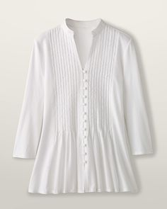 Coldwater Creek crisp white blouses/shirts make me feel young.