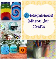 29 Magnificent Mason Jar Crafts By: Emily Timmons, Editor,AllFreeKidsCrafts.com You might think you've seen every Mason jar idea under the sun, but you haven't seen these Mason jar crafts! AllFreeKidsCrafts has compiled a list of the best Mason jar crafts for kids to make, from decorating ideas to fun painting projects. You'll even find a few craft ideas for little ones to try. No matter which Mason jar crafts you choose to make,