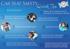 Car Seat Safety Quick Tips! Basic information on how to properly use your car seats.