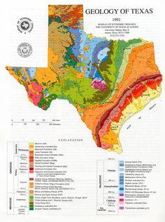 Geologic map of Texas: kinda cool