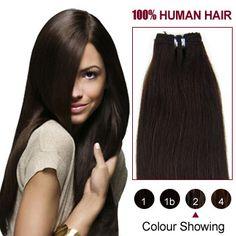 10 Dark Brown(#2) Straight Indian Remy Hair Wefts