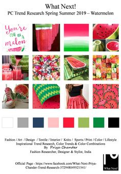 #Watermelon #fruit #SS19 #priyachander #nature #kidsfashion #watermelonmargarita #couture #kidswear #eliesaab #burberry #fashiontrends #spring2019 #WGSN #NIKE #ADIDAS #pantone #cotton #fashionresearch #fashionforecast #menswear #mensfashion #womenswear #interiordesign #interiors #knits #menstyle #dapper #colortrends #fashionstyle #fashionindustry #fashionweek #runway #fashionista #NYFW #LFW #PFW #MFW #fashiondesigner #hometextiles #interiors #interiordesign #benetton #puma #cottonon…