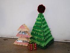 Christmas Tree Piñata Ornaments EverythingEtsy Com DIY Christmas Christmas Ornaments Pinterest Christmas Tree DIY Christmas  - Christmas Tree Pinata